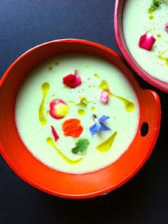 Fokhagymás uborkagazpacho   CHILI & VANILIA Chili, Pudding, Dishes, Ethnic Recipes, Desserts, Soups, Desk, Interiors, Colors