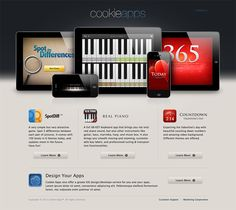 Cookie Apps Website - 3d, sharp photography - limited options