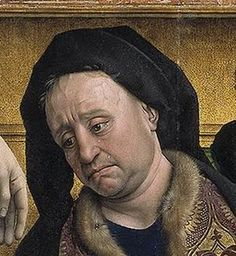 Rogier van der Weyden · El descendimiento (detalle: Nicodemo) · Museo Nacional del Prado · Madrid (España)