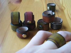 leather rings by RADCOW on Etsy, $10.00