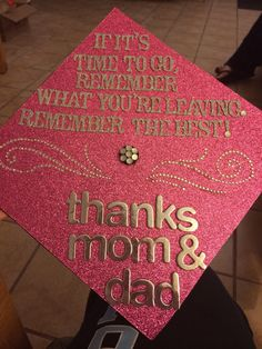 My graduation cap! The quote is from Doctor Who!