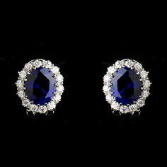 Kate Middleton Inspired Sapphire Blue Wedding Earrings
