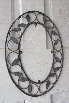 Metal frame oval vintage patina home decor by YimmekesVintageFinds