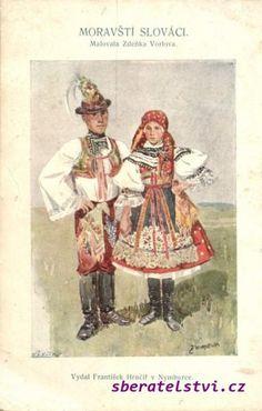 Kyjovský kroj; Moravští Slováci Folk Costume, Costumes, European Countries, Black Forest, Czech Republic, Fashion History, All Art, Celtic, The Past