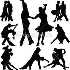 Ballroom Dancers Silhouette Vinyl Wall Art Sticker Dancing Couple Tango Teacher in Home, Furniture & DIY, DIY Materials, Wallpaper Dance Silhouette, Silhouette Vinyl, Silhouette Vector, Dancing Clipart, Dance Vector, Latin Dance, Dance Art, Dance Background, Tango Dancers