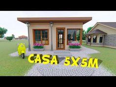 Casa de metros / 5 x 5 Home Plans - Easy Home Plans Mini House Plans, Guest House Plans, Simple House Plans, Duplex House Plans, Dream House Plans, Bungalow Haus Design, Small Bungalow, Modern Bungalow House, House Front Design