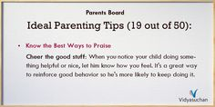 Ideal Parenting Tips (Tip 19)