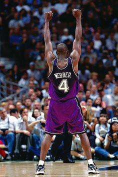 Chris Webber in glorious purple. Fantasy Basketball, I Love Basketball, Basketball Pictures, Basketball Legends, Sports Pictures, Basketball Players, Basketball Skills, Basketball Birthday, Sports Images