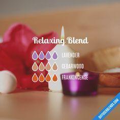 Relaxing Blend - Essential Oil Diffuser Blend #aromatherapysleepmasks