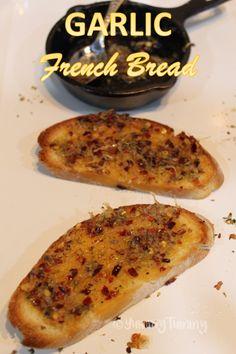 Garlic French Bread Recipe - Garlic French Bread Toast Recipe - Wilson is Home Leftover Bread Recipes, Easy French Bread Recipe, Homemade French Bread, French Bread Pizza, Garlic Toast Recipe, Garlic Recipes, Top Recipes, Cheese Recipes, Garlic