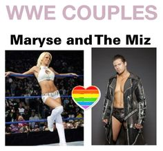 """""""WWE COUPLES;Maryse and The Miz"""" by angel-wwe-forever ❤ liked on Polyvore featuring art"""