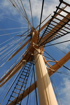 There's nothing like climbing the rigging while under full sail.