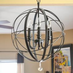 Learn how to make this high end orb chandelier knockoff for $40.