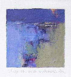 This is my new original oil painting completed today. Oil paint is very slow to dry, so it takes about a week to dry out and ship from my studio. Thank you, Hiroshi July 16, 2016 -------------------------------------------------------------------------------------------- This is an Original Abstract Oil Painting by Hiroshi Matsumoto Title: July 16, 2016 Size: 9.0 cm x 9.0 cm (app. 4 x 4) Canvas size: 14.0 cm x 14.0 cm (app. 5.5 x 5.5) Media: Oil on canvas Year: 2016 This is my everyday pa...