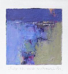 16 juillet 2016 peinture - abstrait peinture à l'huile - 9 x 9 (9 x 9 cm…