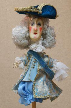 King & Queen Marionette Puppets Marionetten & Handpuppen Prague Gaudeo Czech Handcrafted Puppet