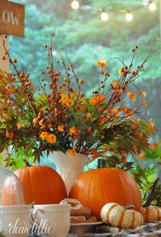 A Little Peek of Some Orange on Our Porch  by Dear Lillie