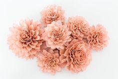 10 Antique Rose Wooden Flowers, Rustic Wedding Decorations, Wedding Flowers