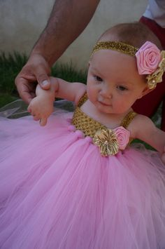 Hey, I found this really awesome Etsy listing at https://www.etsy.com/listing/191698103/gold-pink-tulle-dress-princess-party
