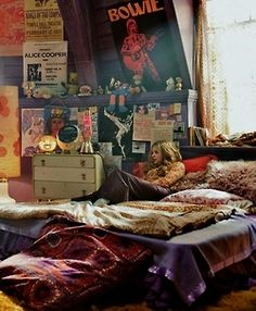 photography hippie room boho bed bohemian Interior woman dark shadows room vintage