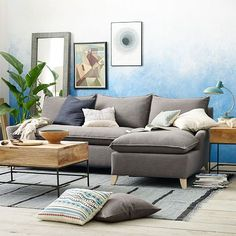 Bliss Down-Filled 2-Piece Chaise Sectional | West Elm
