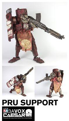 Dressed Robot with machinegun