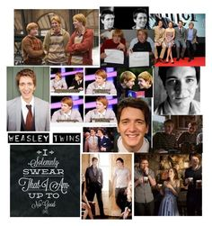 """James and Oliver Phelps"" by hogwarts-is-home ❤ liked on Polyvore featuring Emma Watson and George"