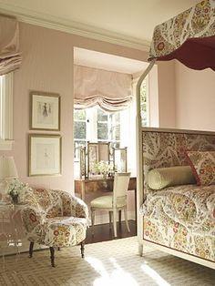 Girl's bedroom by Suzanne Rheinstein's