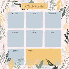 bitutamani: Sahsi planner ve dokumanlar. Printable Planner Pages, Planner Stickers, Week Planer, Iphone 6 Wallpaper Backgrounds, Routine Planner, Journal Template, Study Planner, Up Book, Flower Doodles