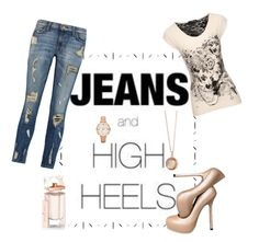 """""""Take"""" by sasane ❤ liked on Polyvore featuring Current/Elliott, Jane Norman, Yves Saint Laurent, Balenciaga, Monica Rich Kosann and FOSSIL"""