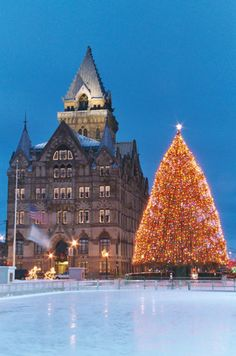 Clinton Square...our beautiful city all dressed up for Christmas! A terrific place to ice skate with the family!
