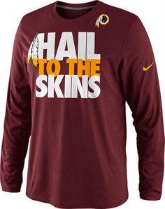 Washington Redskins Burgundy Hail To The Skins Long Sleeve T-Shirt