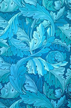 Acanthus by William Morris. King & McGaw has an extensive collection of art prints by established and emerging artists, which are all framed by hand in the UK. Art Deco Wallpaper, Trendy Wallpaper, Designer Wallpaper, Pattern Wallpaper, Teal Wallpaper, William Morris Wallpaper, William Morris Art, Morris Wallpapers, William Morris Patterns