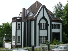 The Peter Behrens House at the Darmstadt Artists' Colony – Architecture Cultural Architecture, Classical Architecture, Contemporary Architecture, Residential Architecture, Architecture Art, Art Nouveau, Art Deco, Peter Behrens, Walter Gropius