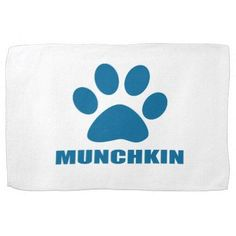 MUNCHKIN CAT DESIGNS HAND TOWEL - kitchen gifts diy ideas decor special unique individual customized #MunchkinCat