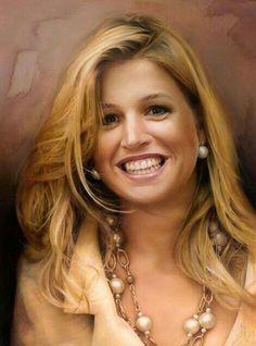 ..Koningin Maxima dit portret is van haar geschilderd (NL)
