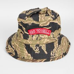 d505c5672e8 GOLD TIGER  GO TO HELL  BOONIE HAT - Store