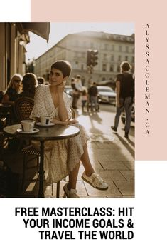 FREE MASTERCLASS: the four simple steps to create consistent months while travelling the world & making a big f*cking impact in any niche Creative Business, Business Tips, Business Women, Online Business, Business Quotes, Bakery Business, Internet Marketing, Media Marketing, Marketing Logo