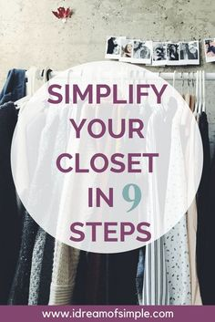 Simplify your closet in 9 easy steps. Join the Project 333 Challenge and dress with less today!  Develop your own capsule wardrobe.  Declutter your clothes. Declutter your closet. Clearing clutter. Capsule Wardrobe Mom, Wardrobe Closet, Wardrobe Ideas, Closet Ideas, Capsule Clothing, Entryway Closet, Fashion Capsule, Wardrobe Basics, Project 333