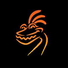 Monsters logos and pumpkins on pinterest for Monster pumpkin carving patterns