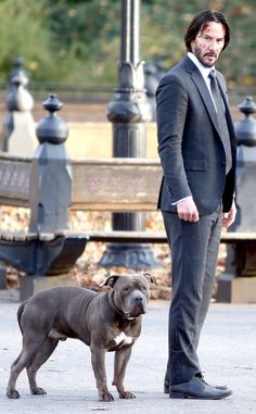 WHY DO WE LOVE JOHN WICK? Because instead of a standard dog leash, he uses an ultra-thin garotte wire. (chicfoo) keanu  #johnwick2