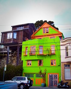 colorful home, lime green