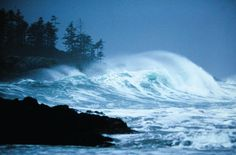 Storm watching - Tofino, West Coast of Vancouver Island, B. Vancouver Island, Canada Vancouver, Best Places To Travel, Great Places, Places To See, Beautiful Places, Pacific Coast, West Coast, Oregon Coast