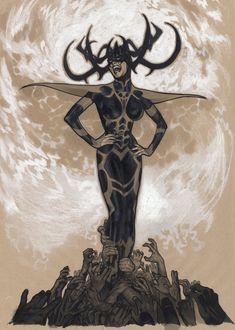 Mighty Thor #700 variant cover - Hela by Adam Hughes *
