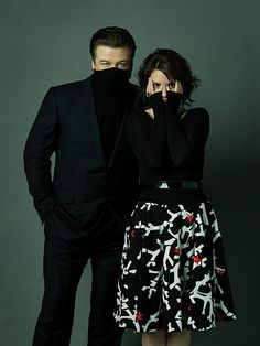 Alec Baldwin & Tina Fey by Robert Ashcroft