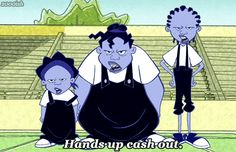 Abstract Connection: The Gross Sisters, from the old Disney Channel program: The Proud Family, were the infamous lunch bullies on the show. They portray the stereotypical, yet real tormentors of the cafeteria. Cartoon Cartoon, Black Cartoon, Cartoon Shows, Cartoon Characters, The Proud Family, Old Disney, Disney Art, Die Prouds, Sister Meme