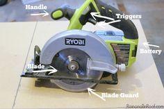 This is like using a circular saw for dummies - GREAT basic info! Power Tools 101: How to Use a Circular Saw via RainonaTinRoof.com