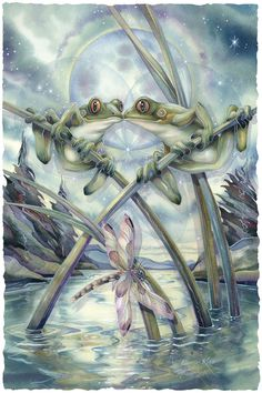 Bergsma Gallery Press :: Paintings :: Insects & Amphibians :: Frogs :: Frogs & Kisses - Prints