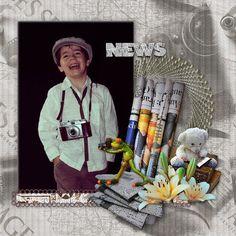 Bribri62-Scrap: Ma page avec le Kit Reporter photographe de Floralys scrap