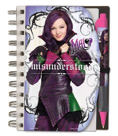 Descendants Pen and Notebook Set with Carry Bag 4x6 Featuring Mal